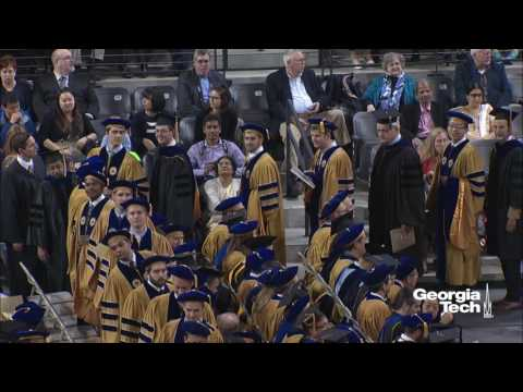 Spring 2017 Commencement Doctoral Hooding Ceremony