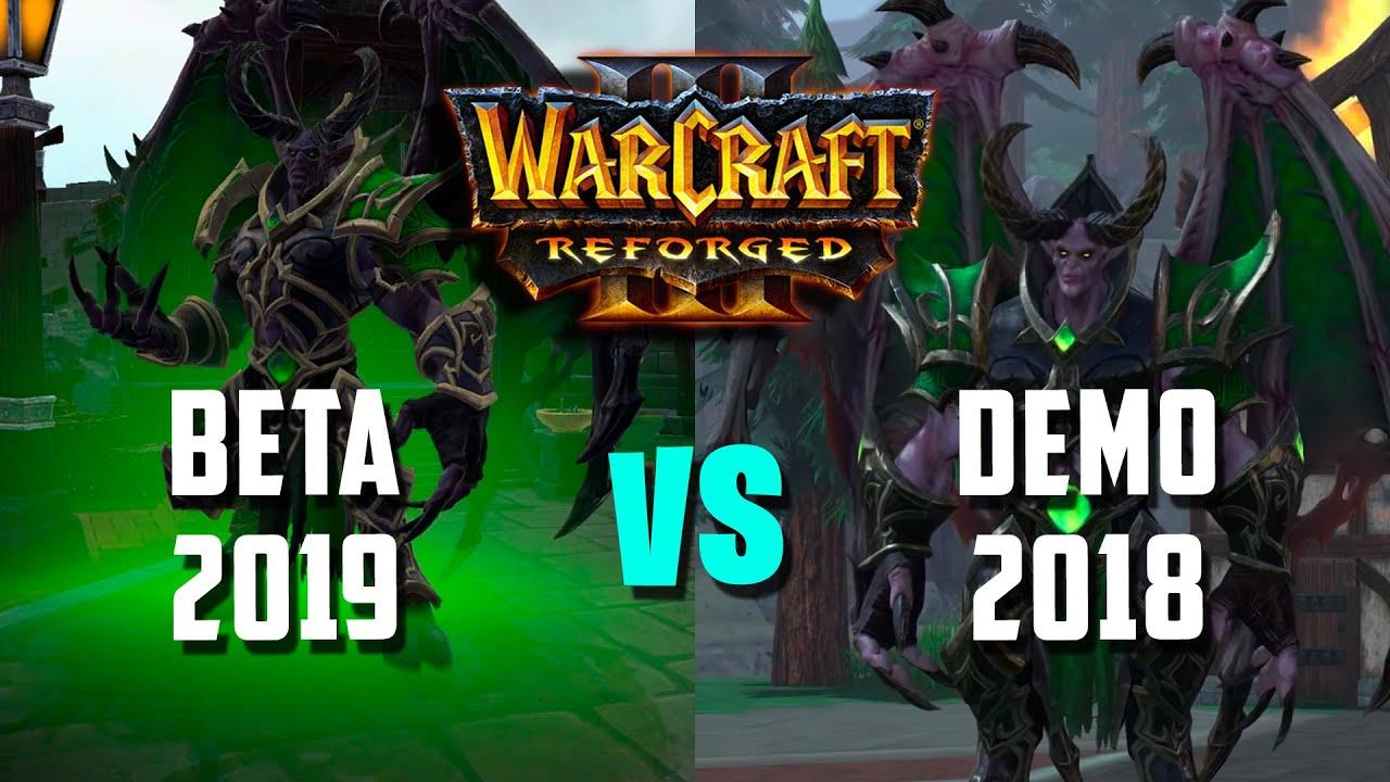 Warcraft III: Reforged   СРАВНЕНИЕ ГРАФИКИ BETA 2019 VS DEMO 2018 (Очищение Стратхольма)