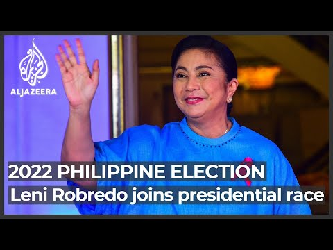 Philippines's No 2 Leni Robredo joins race to succeed Duterte