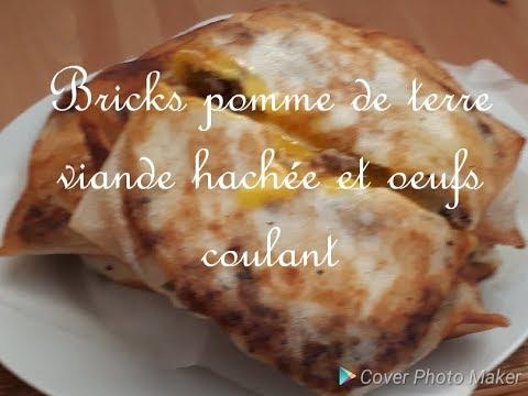 🌸-recette-bricks-pomme-de-terre-viande-hachée-et-oeufs-coulant-🌸