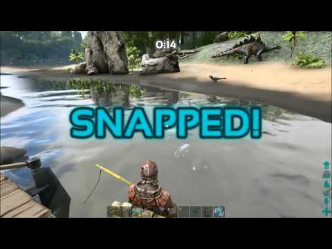 Lag plays presents ark how to use the fishing rod ark for Fishing pole ark