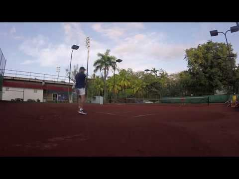 Tennis training in Panama City - 18/01/2018