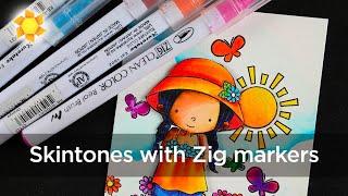 HOW TO MIX ETHNIC SKINTONES - Zig Clean Color Pens