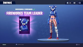 "'NEW' FORTNITE SKIN ""FIREWORKS TEAM LEADER"" GAMEPLAY - ROAD TO LEVEL 100"