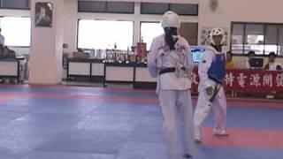 陳詩欣vs江祈瑩:2003年國立台灣體育大學移地訓練跆拳道比賽實況