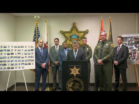 AG Becerra And Orange County Undersheriff Barnes Announce Gang Takedown In Orange County