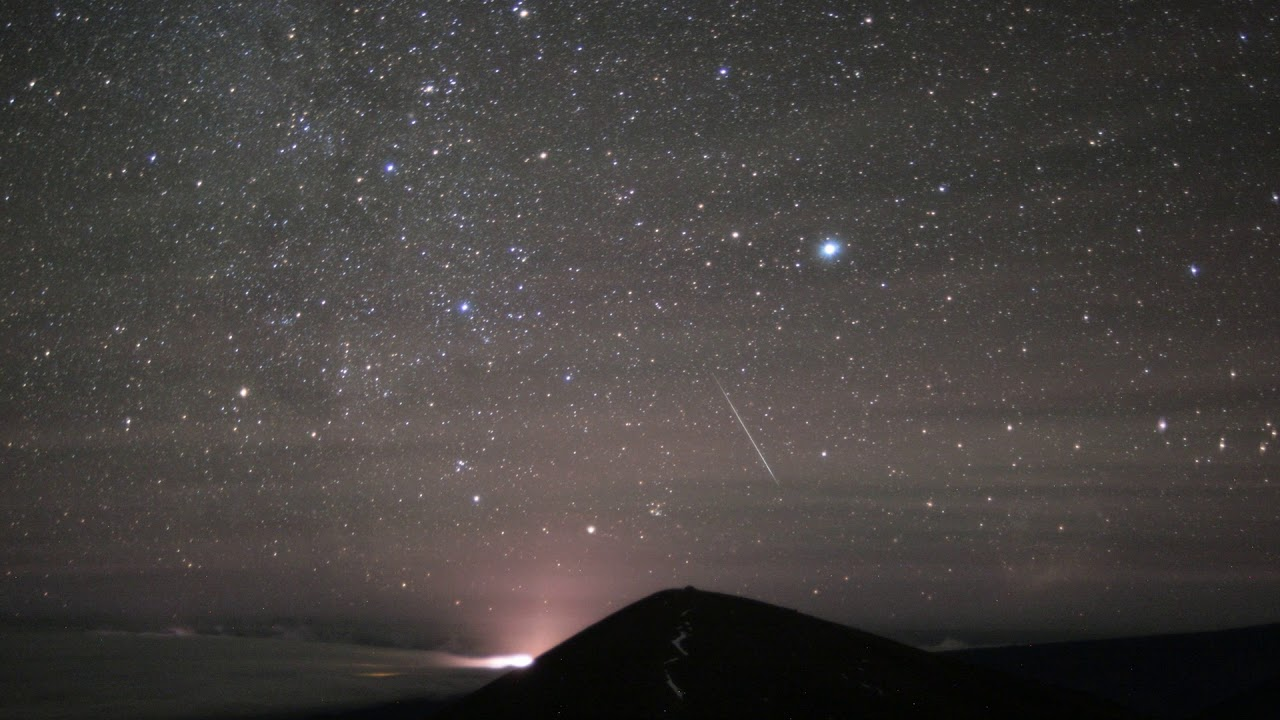 2017 geminid meteor shower capture by the gemini north south facing cloud camera