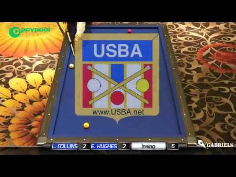 "1 • Lee COLLINS vs Eric HUGHES • 2017 USBA / Gabriels 3 Cushion ""B"""