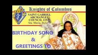 BIRTHDAY SONG TO MAMA MARY