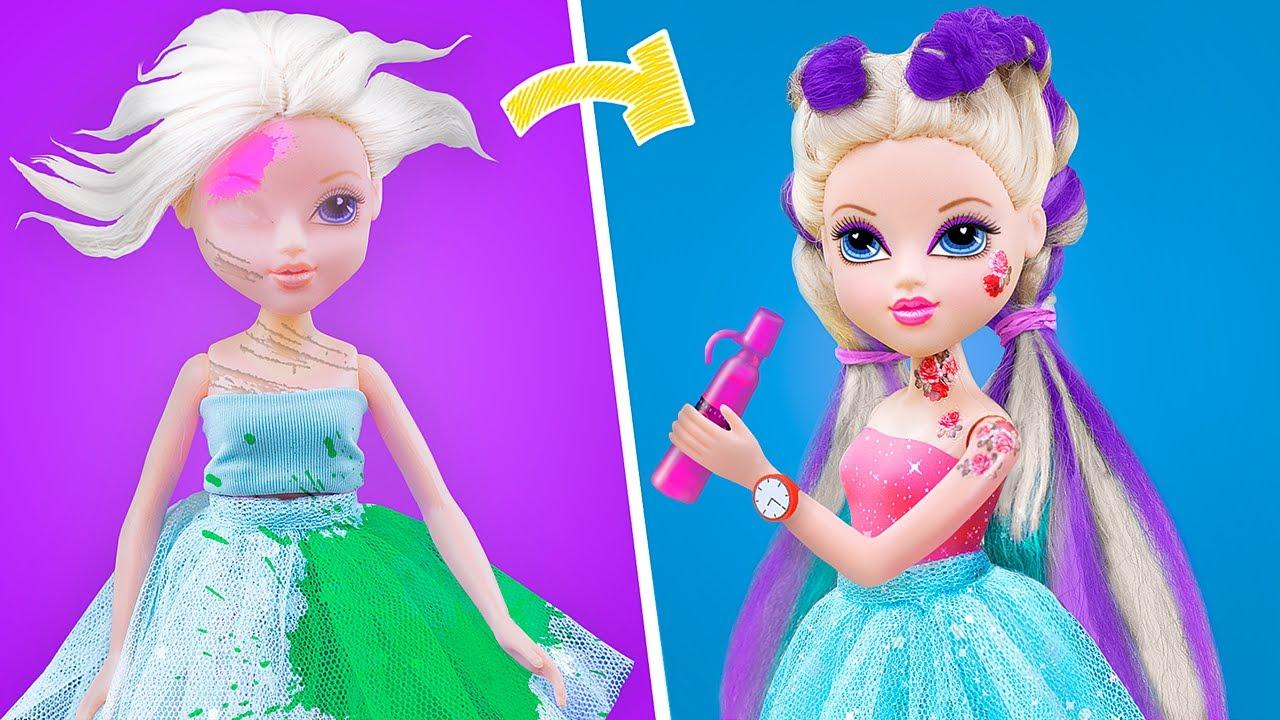 25 Mẹo Thủ Công Diy Cho Búp Bê Barbie - YouTube