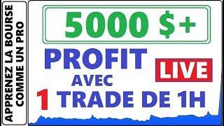 TRADE LIVE!! 5000$ PROFIT AVEC 1 TRADE EN 1H! TRANSACTION EN DIRECT AVEC ANALYSE. STOCK DU JOUR NVCN