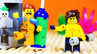 LEGO MOVIE 2 GYM FAIL Stop Motion for Kids