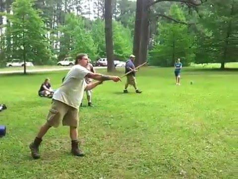 Throwing an Atlatl at Town Creek Indian Mound State Historic Site