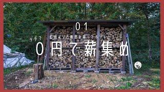 [薪ストーブ]0円で薪集め|低コストの小屋暮らしの必需品