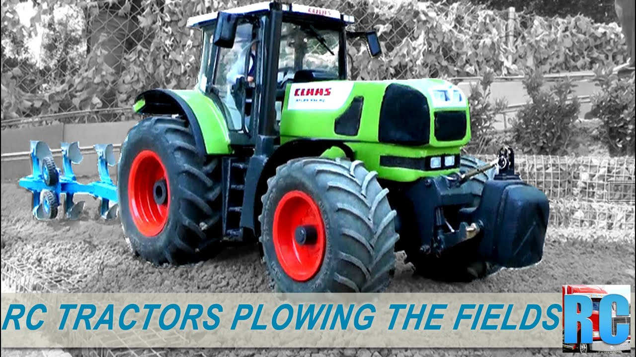 RC TRACTORS PLOWING THE FIELDS