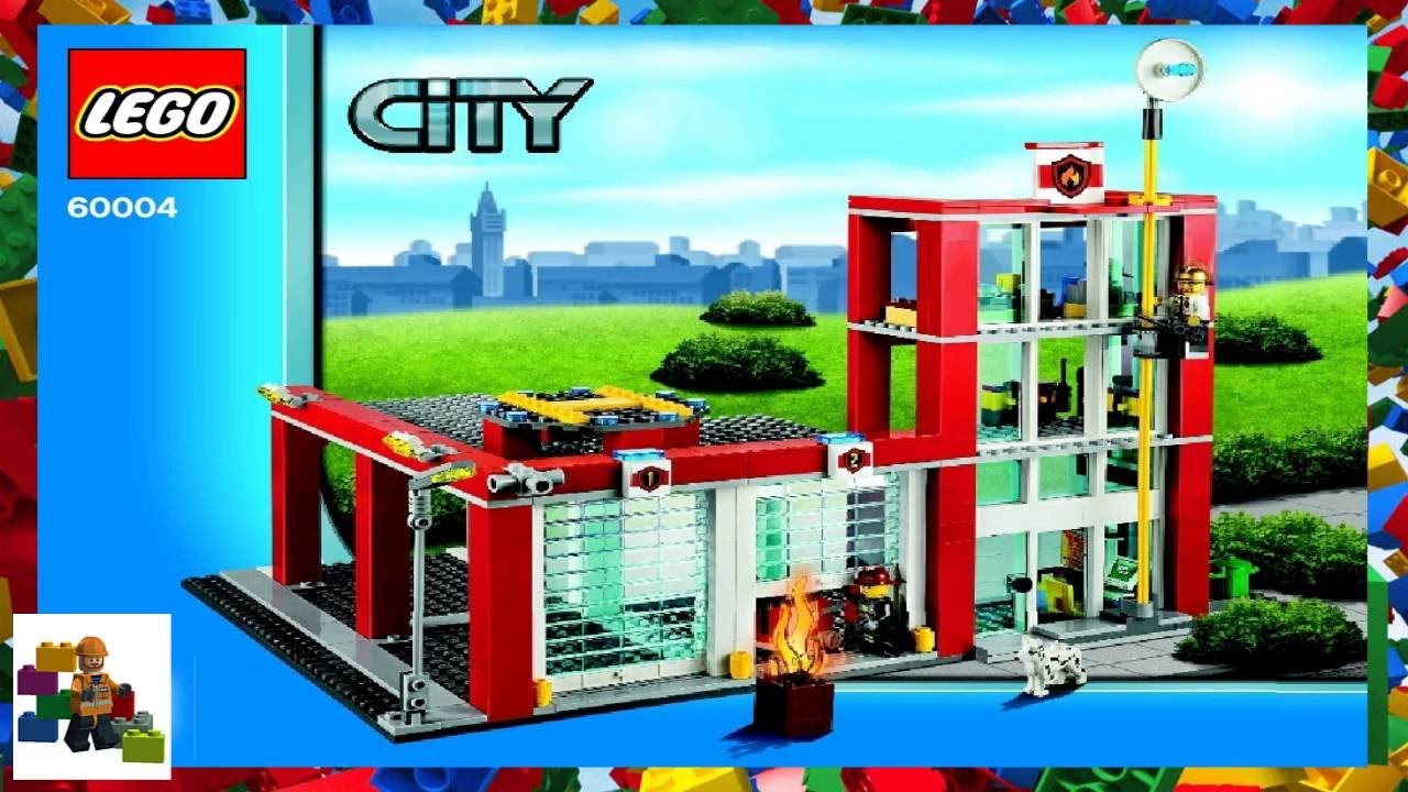 Lego Instructions City Fire 60004 Fire Station Book 4