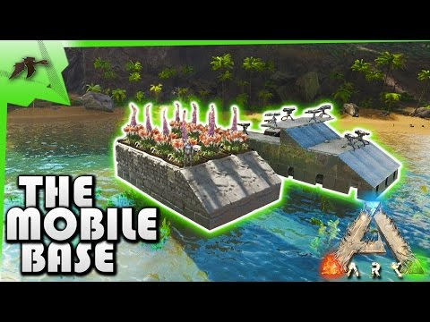HOW TO Build A Simple Mobile Base/Underwater Turrets On Raft -Ark Survival Evolved Xbox One -Kamz 25
