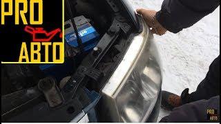 видео Video Nissan Almera N16 как снять переднею фару обзор