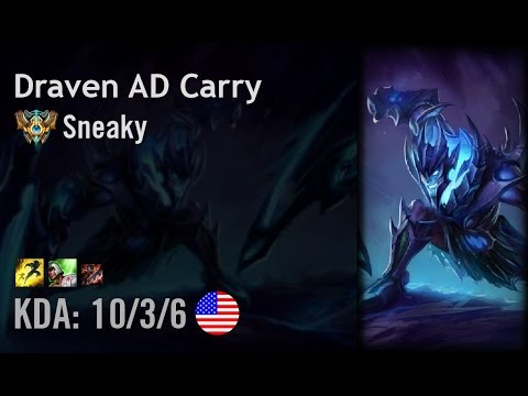 Draven AD Carry vs Sivir - Sneaky - NA Challenger Patch 6.14