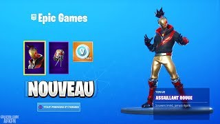 "NOUVEAU PACK ""ASSAILLANT ROUGE"" + 600 V-BUCKS ! FORTNITE BATTLE ROYALE"