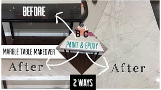 DIY Paint & Epoxy Resin | Marble  Table or Counters