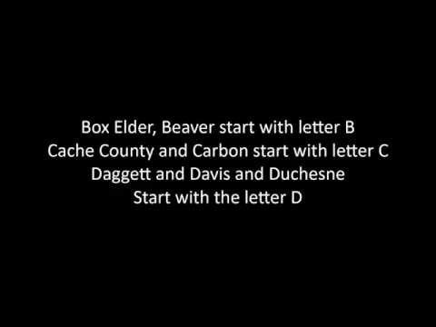 Utah Counties Lyrics