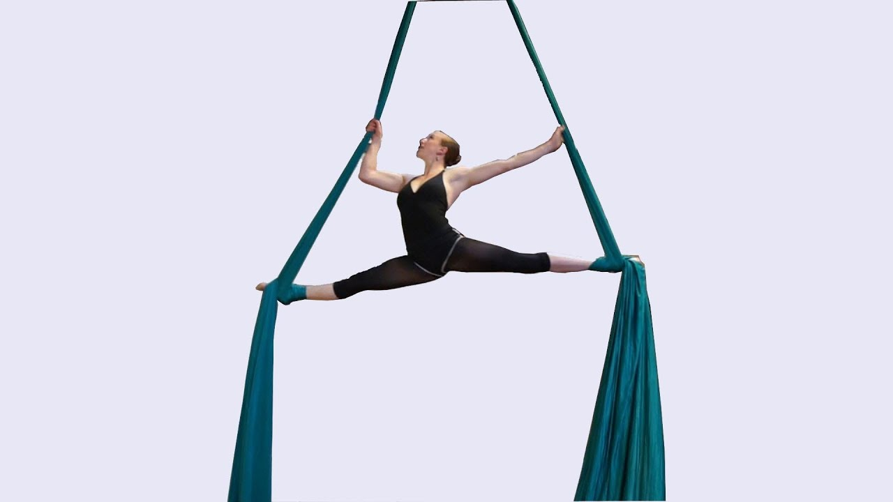Beautiful Aerial Silks Dancer