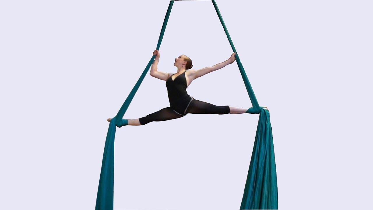 Beautiful aerial silks dancer - YouTube