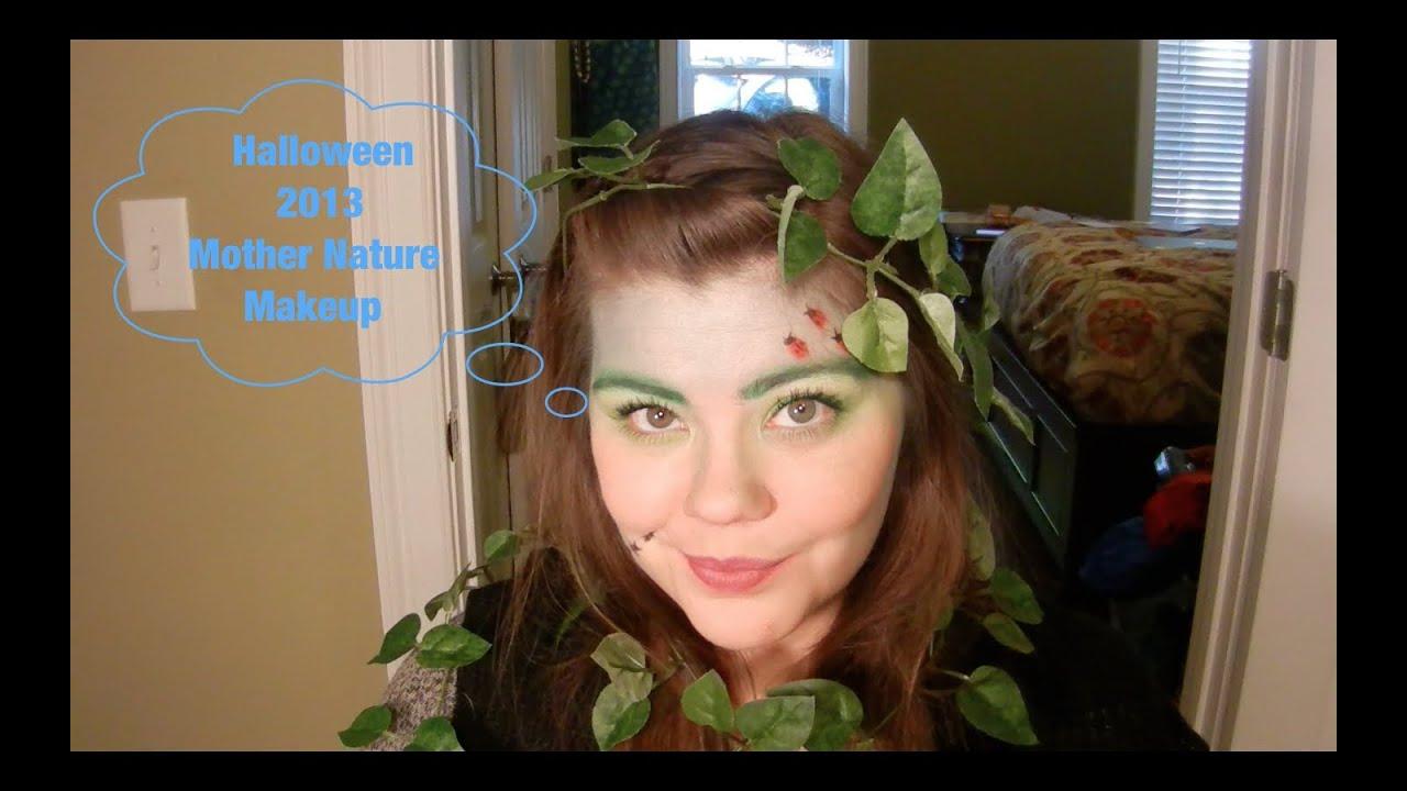 Mother Nature Halloween Makeup - YouTube