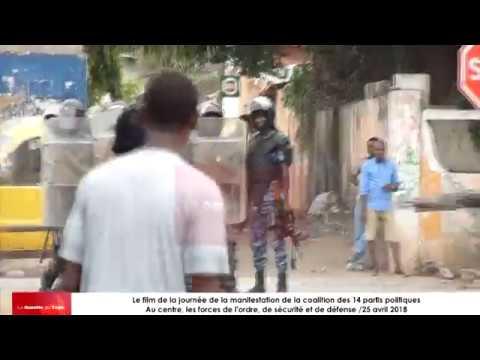 Affrontements entre manifestants et forces de l'ordre et de sécurité ce 25 avril 2018