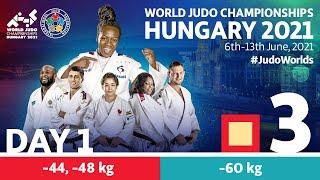 Day 1 - Tatami 3: World Judo Championships Hungary 2021