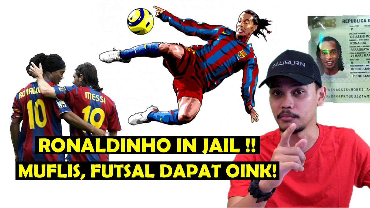 Ronaldinho Muflis! Masuk Penjara Dapat Babi 16 Kilo !!
