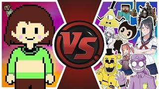 CHARA vs THE WORLD! (Chara vs Bill Cipher, Golden Freddy, Bendy, FNAF, Touhou, & More) Animation