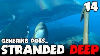 stranded deep gameplay ep 14 whale vs great white shark