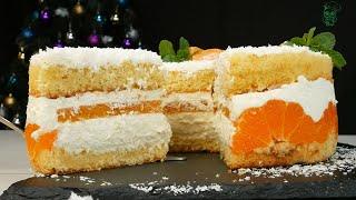 Мандариновая нежность торт на Новый год 2021