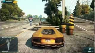 Need for Speed Most Wanted 2012 - Lamborghini Aventador + Steering Wheel