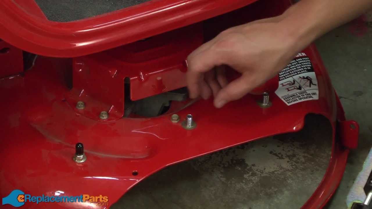 How To Replace The Chute Assembly On A Troy Bilt Pony Lawn