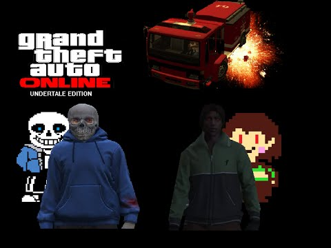 Undertale Short   Grand Theft Auto V Online Edition - Sans Vs Chara Skit And Bloopers!