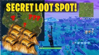 SECRET LOOT PATH IN FORTNITE! // BEST PLACE TO LAND IN FORTNITE!