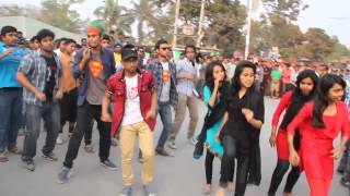 icc world cup t20 2014 flash mob cantonment public school college rangpur