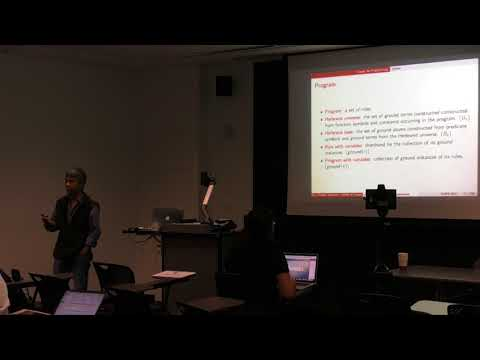 ICAPS 2017: Tutorial : Logic Programming - Foundations and Applications