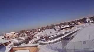 Sport Cub....First flight on floats off snow...my snow birds