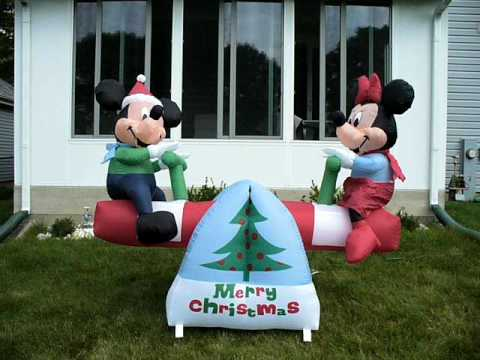 shopchristmasinflatablescom disney christmas inflatable seesaw new in stock youtube - Disney Christmas Inflatables