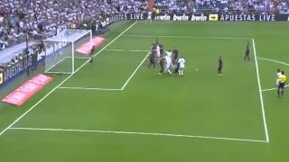 Real Madrid vs  FC Barcelona 3-1 pepe goal 25/10/14