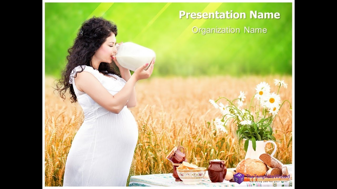 pregnancy nutrition powerpoint presentation template, Modern powerpoint