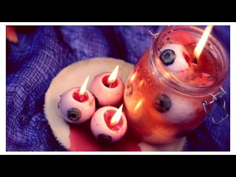 DIY: Bleeding Eyeball Candles   Halloween Room Decor