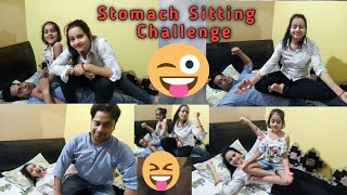 Stomach Sitting Challenge || Husband Vs Wife || Funny Video