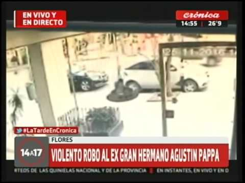 Violento robo al ex Gran Hermano, Agustín Pappa