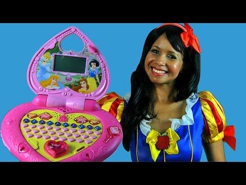 Disney Princess Magical Learning Laptop with Snow White ! || Disney Toy Reviews || Konas2002