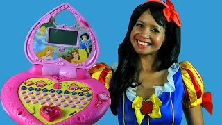 Disney Princess Magical Learning Laptop with Snow White ! || Disney Toy Reviews || Konas2002